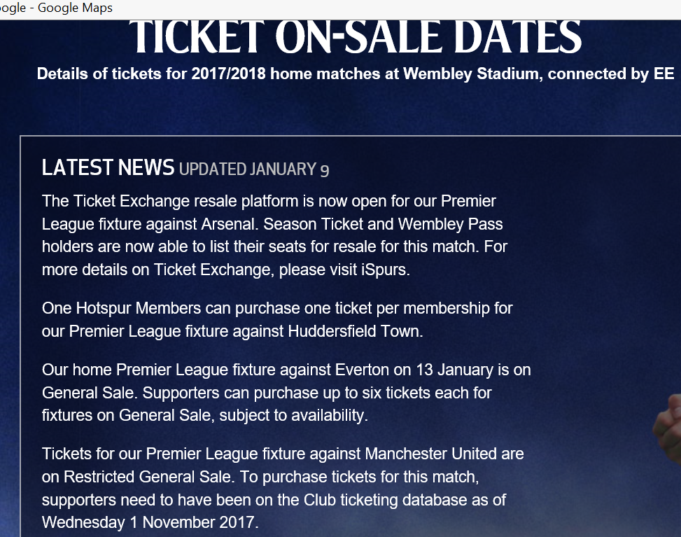 2018 THFC Ticket Exchange Announcement