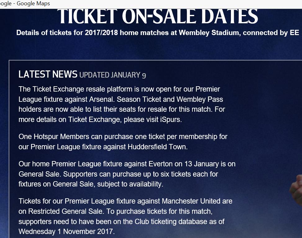 2018 THFC Ticket Exchange Announcement