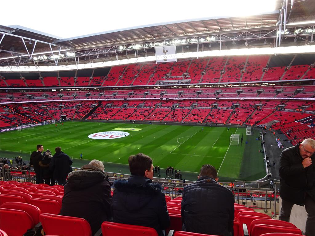View from padded seats section at Wembley