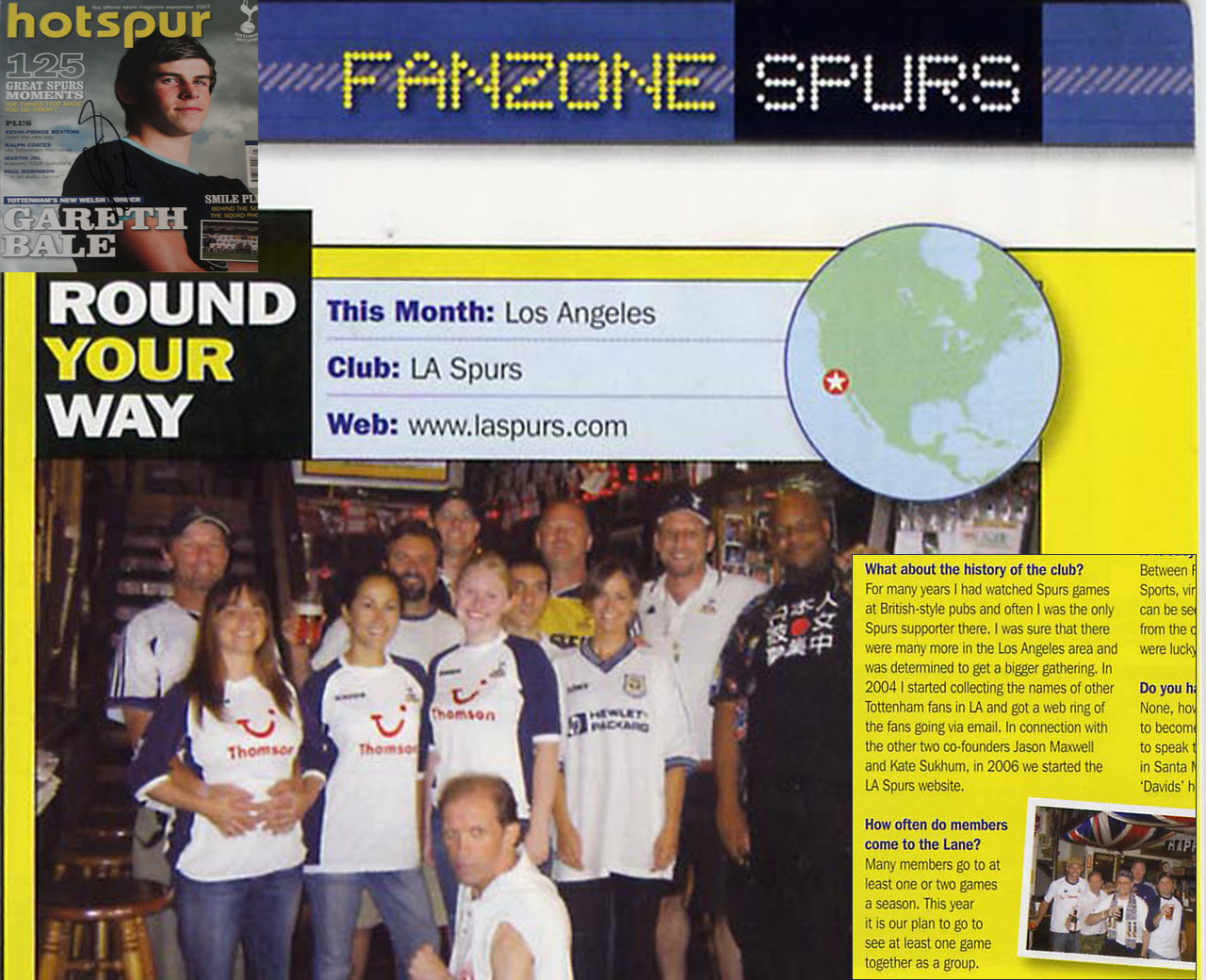 L.A. Spurs featured in September 2007 Hotspur Magazine